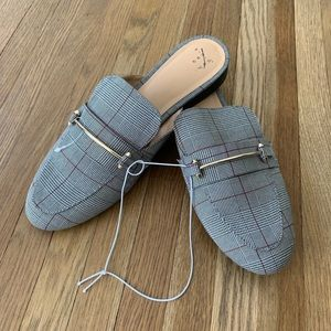 NWOT Plaid A New Day Mules 8.5